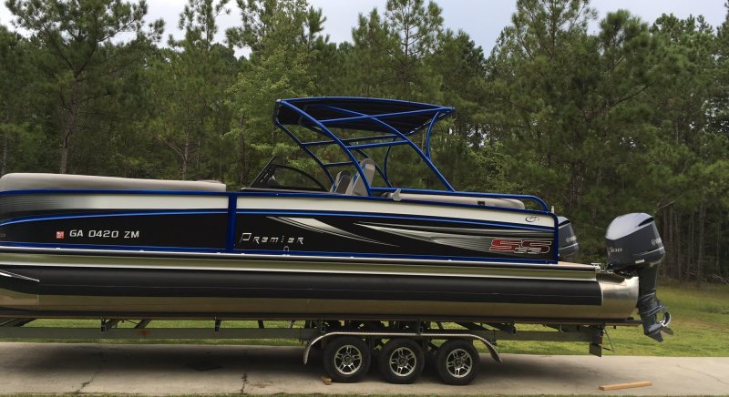 Hard Top Pontoon Boat